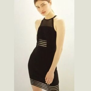 Topshop Ric Rac Sheer Black Dress Open Back  8